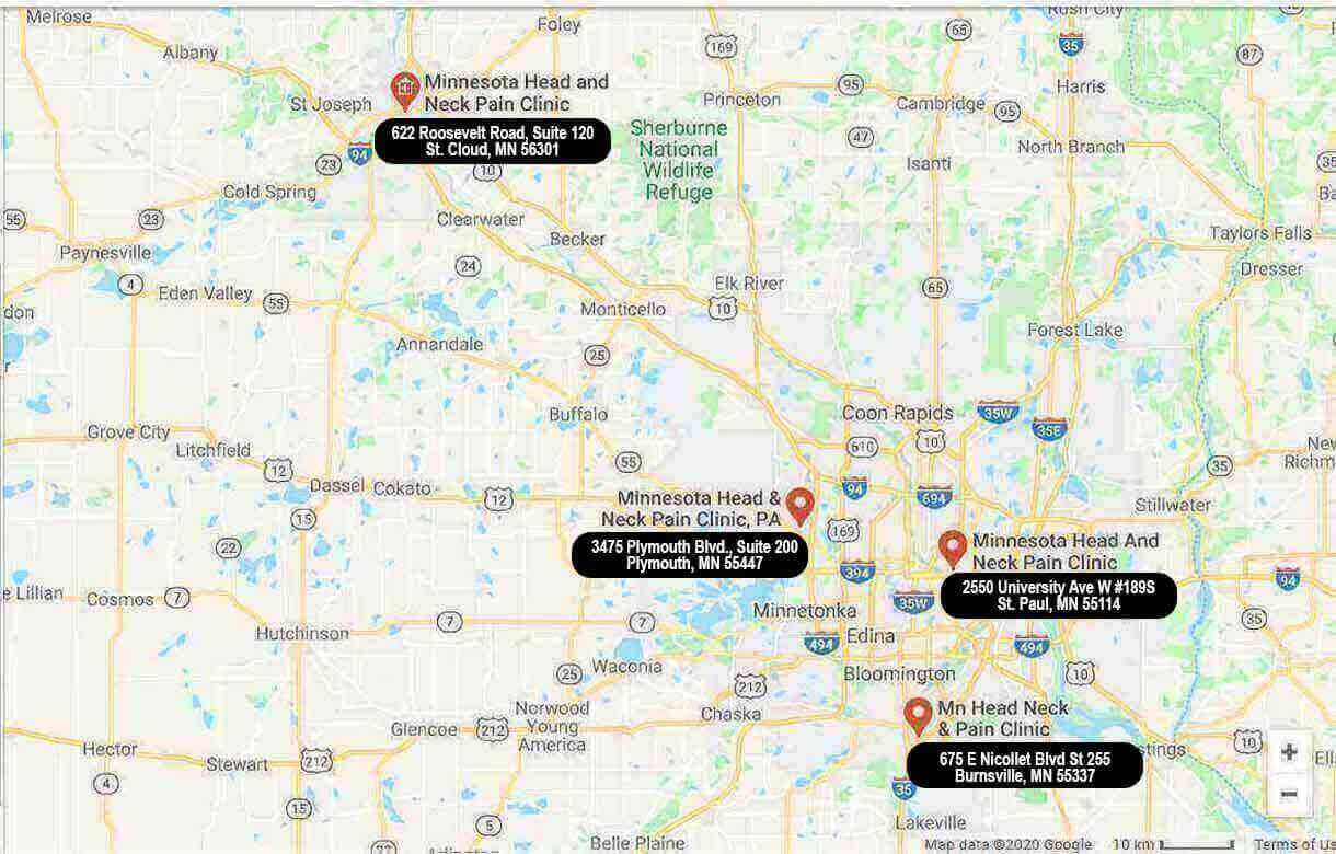 MN Head & neck Pain Clinic locations